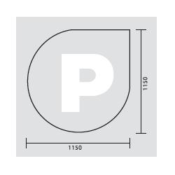 Plaque de sol P 115x115...